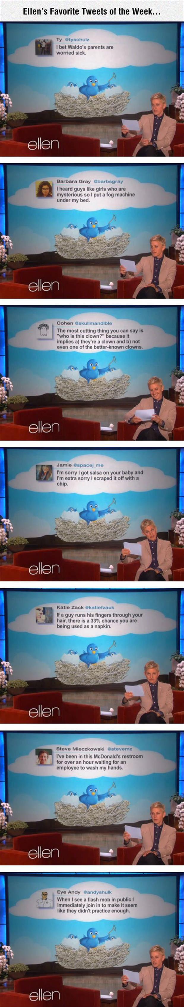 Ellen Degeneres's Favorite Tweets Of The Week