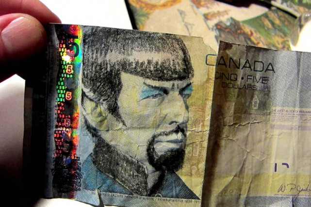 Canadians Pay Tribute To Nimoy by Drawing Spock on $5Bills