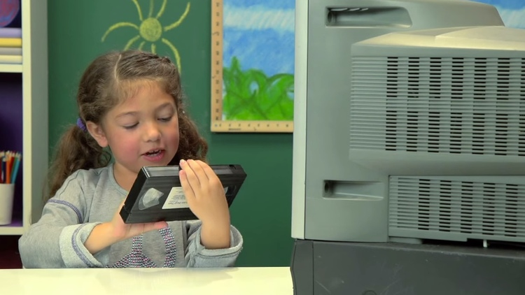 Kids Reaction to VCR and VHS Technology