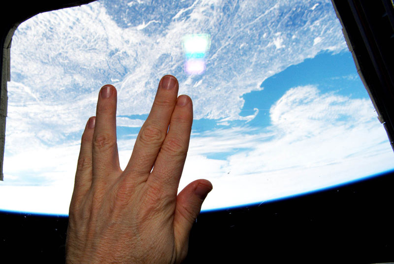 Space Salute To Nimoy FromSpace