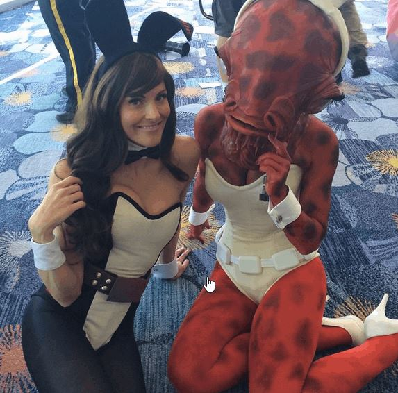 Sexy Admiral Ackbar Cosplay From Star Wars Celebration 32
