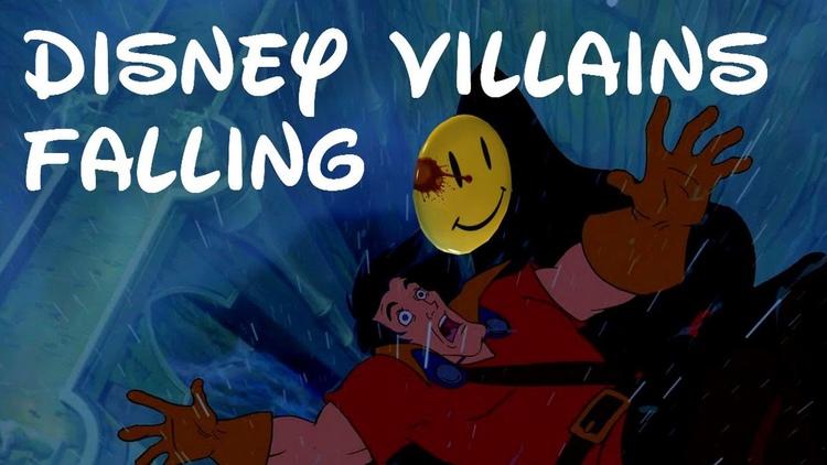 Supercut of Disney Villains Falling to Their Death