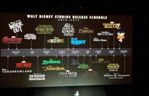 Disney's Film Slate Through 2017