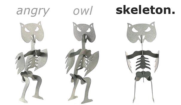 Owl Candle Reveals A Hidden Skeleton When It Melts