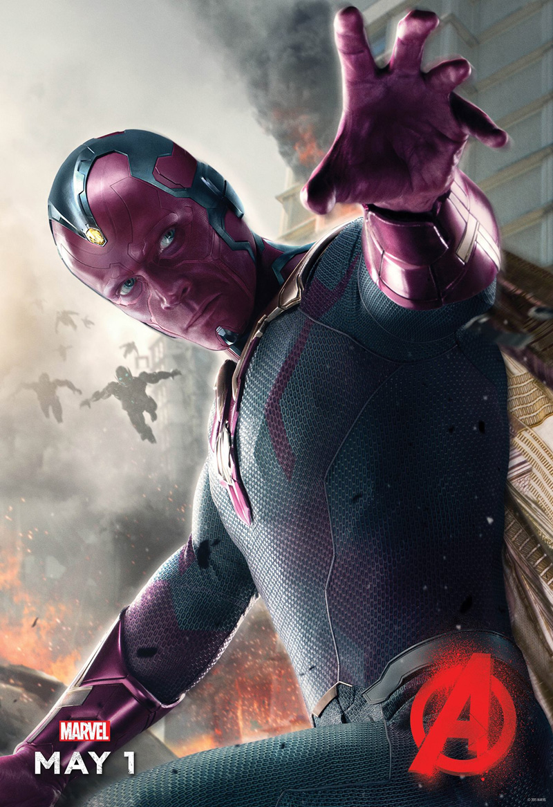 The Vision Character Poster for Avengers: Age of Ultron