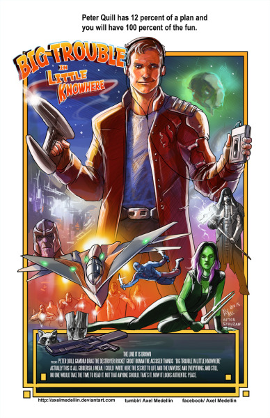 Comic Book Characters Featured in Movie Poster Art