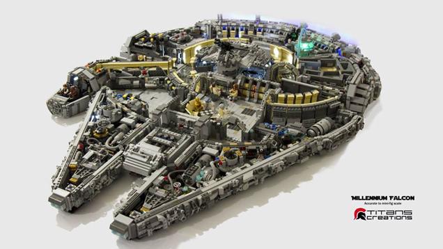 10,000 LEGO Bricks Used to Build This Millennium Falcon's Interior