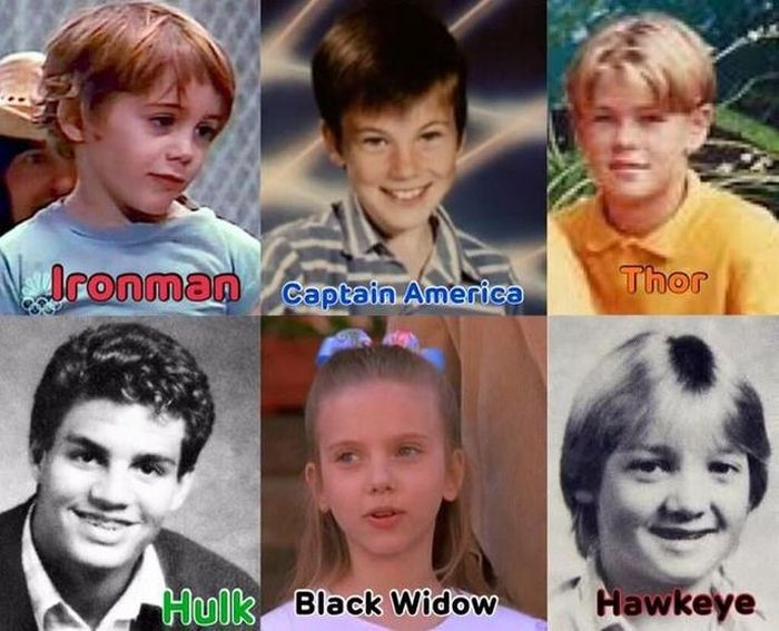 The Avengers Actors as Kids