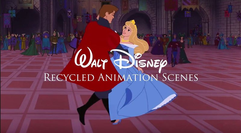 Recycled Animation Sequences from Blockbuster Disney Films