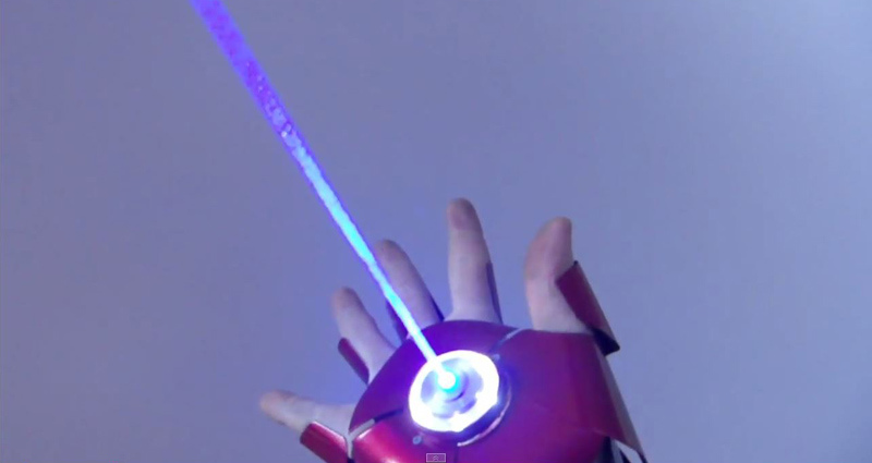 Guy Made a Dual Laser Iron Man Glove with Sounds and EjectingShell