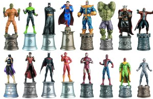 The Ultimate Marvel vs. DC Battle Chess Set Pieces