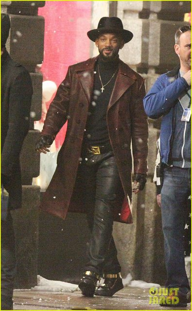 First Look at Will Smith on the Set of SUICIDE SQUAD