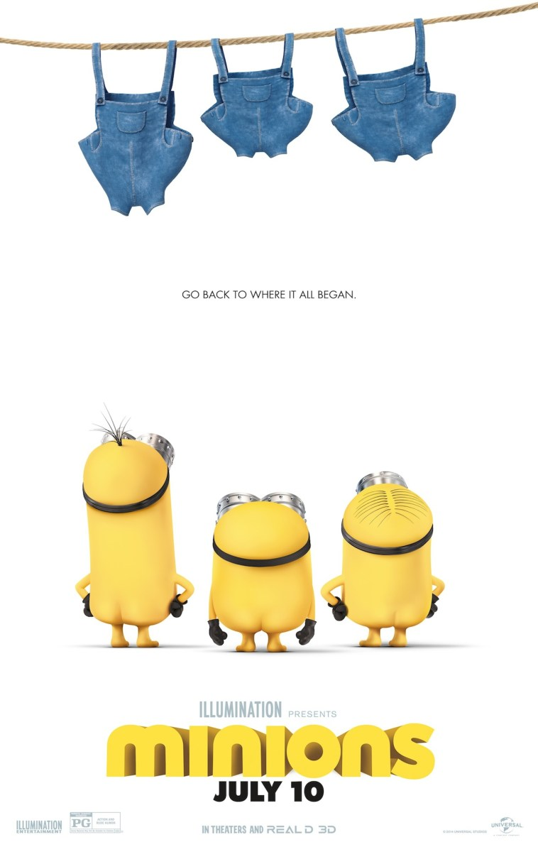 New Minions Poster With lots Of Minion Butts