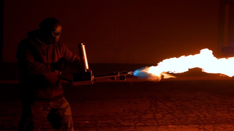 Owning a flamethrower
