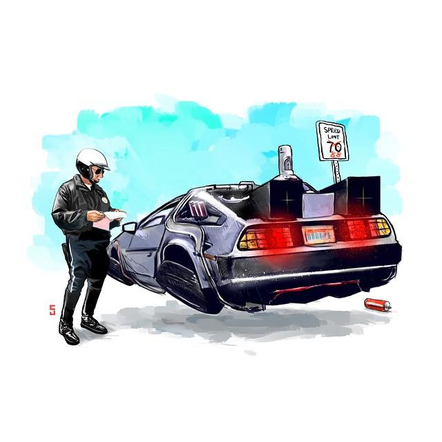 Pop Culture Movie Vehicle Mashup Art Series