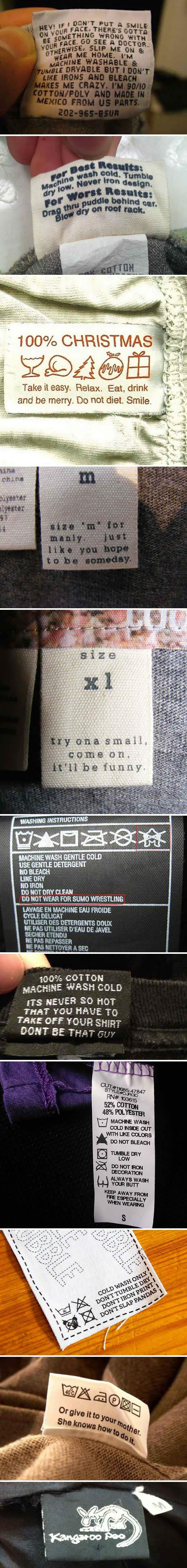 The Funniest Clothing Tags Ever