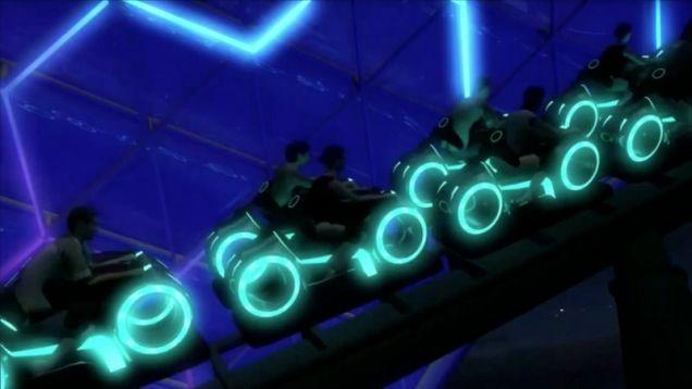 Tron Roller Coaster