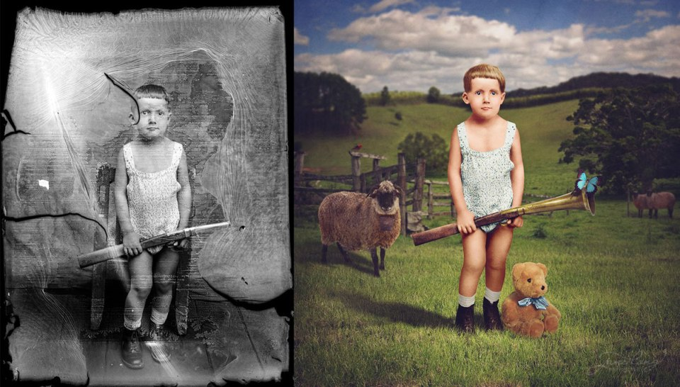 Jane Long Colorizes Old Photos With a Added Twist