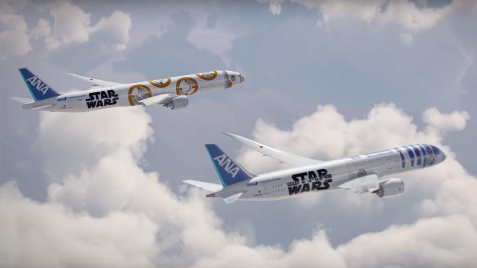 Star Wars Branded Transpacific Planes