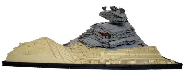 Downed Star Destroyer Recreation in Lego