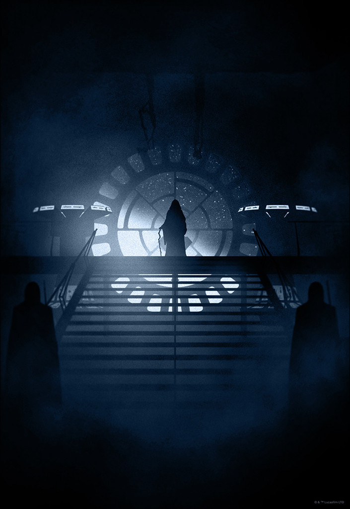 Silhouetted STAR WARS Prints