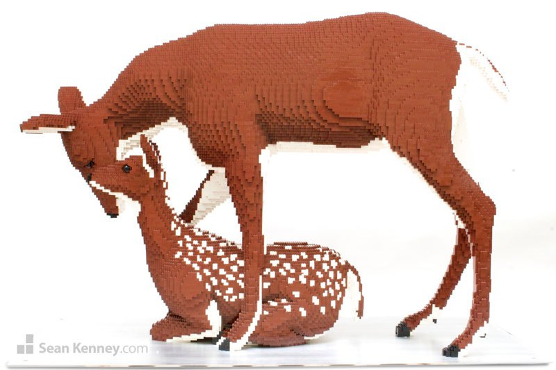 Animal Sculptures Made Out of LEGO