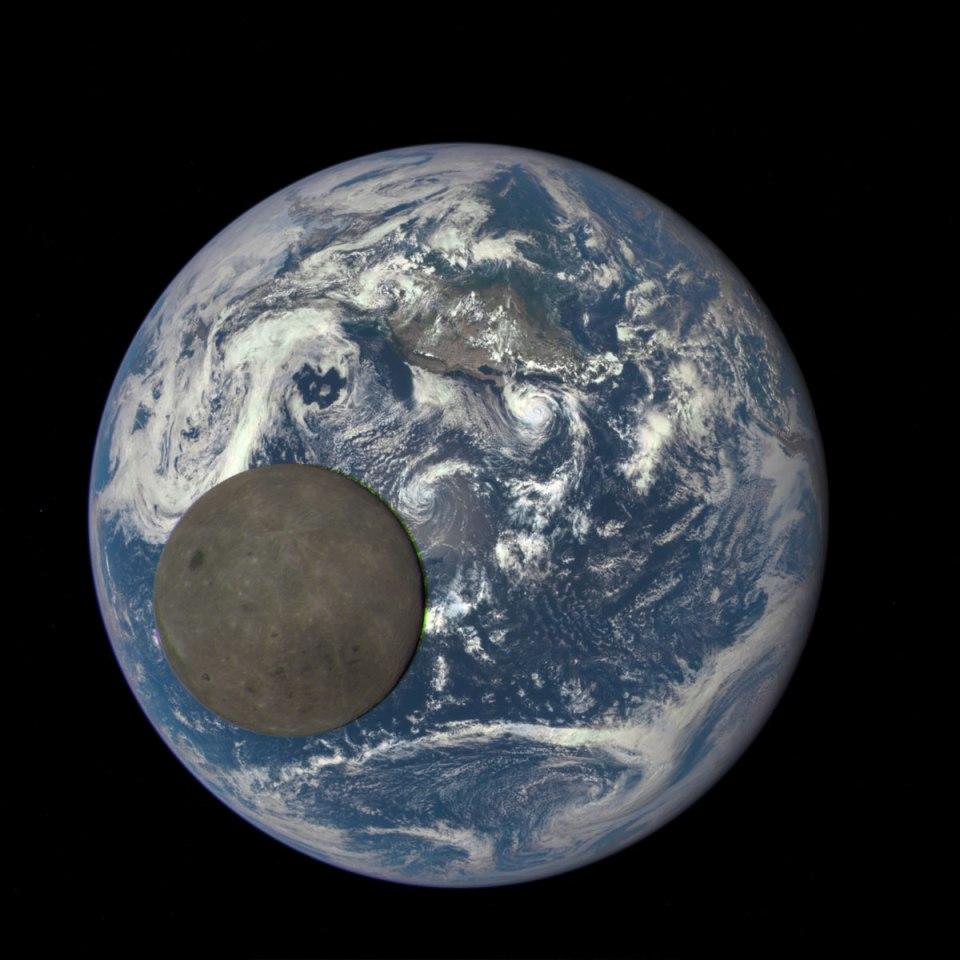 NASA Captures Dark Side of the Moon