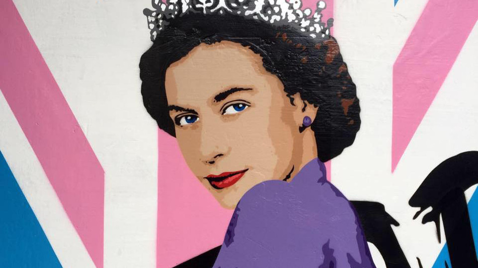 Street Artist Paints The Queen Partially Nude