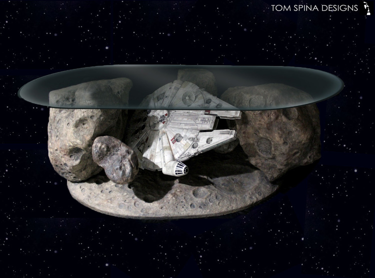 Frozen in Time Millennium Falcon Asteroid Field Coffee Table