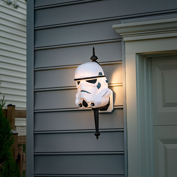 Darth Vader and Stormtrooper Porch Lamp Covers