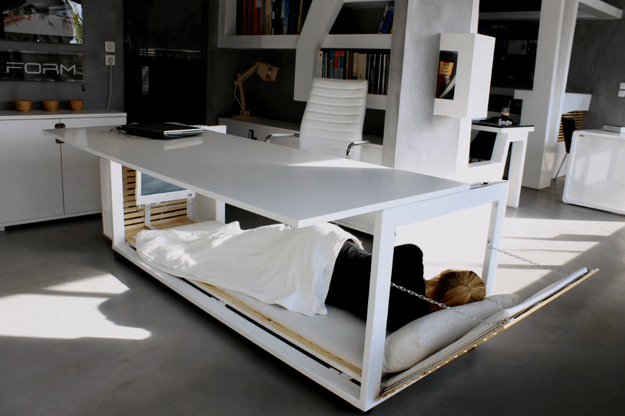 Desk That Allows You To Sleep Comfortably At Work