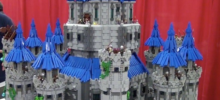 Teen Builds A Wonderful Castle From Lego