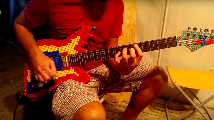 Electric Guitar Made of LEGO Pieces