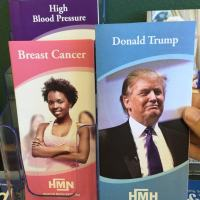 Fake Health Brochure About Donald Trump in a Doctor's Waiting Room