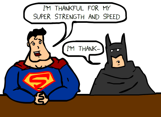 Let's See What Superheroes Are Thankful For