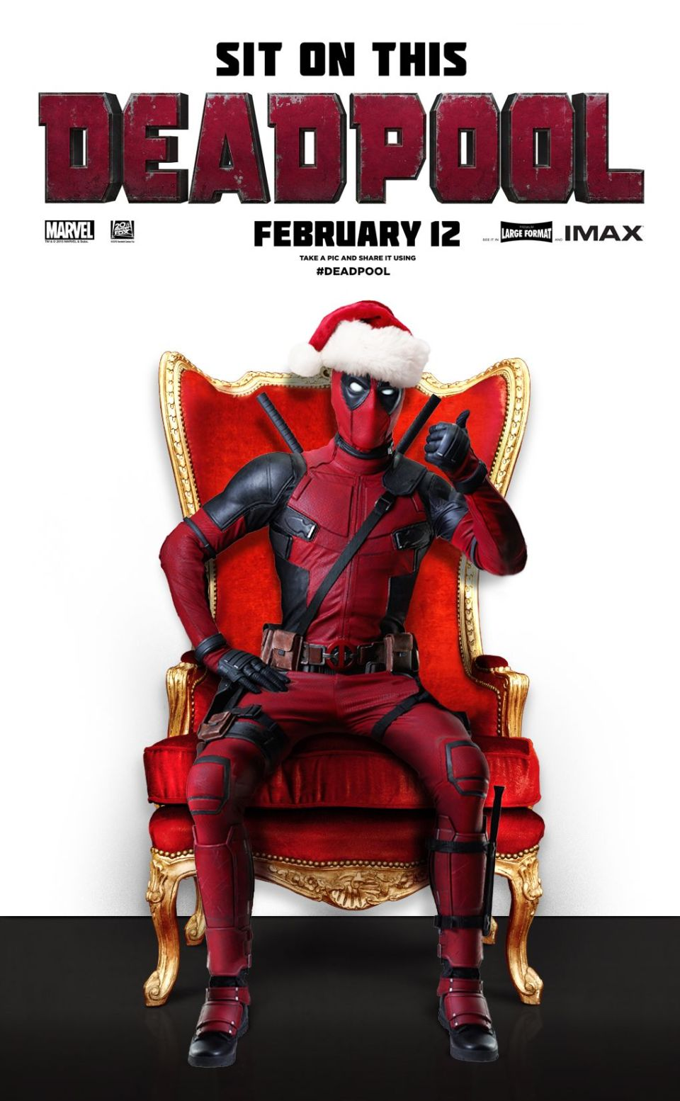 You Can Sit On Deadpool's Lap This Christmas