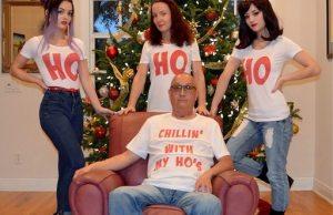 family christmas photo ho ho
