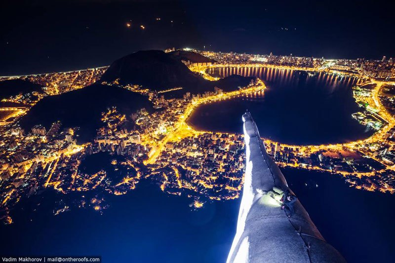 Night Time With Rio's Christ the Redeemer