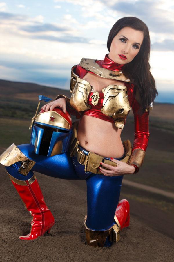 Wonder Woman and Boba Fett Mashup Cosplay