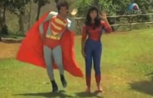 Indian Superman And Spider-Woman is Here to Save and Dance With You