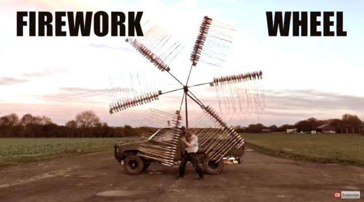 A Giant Fireworks Wheel