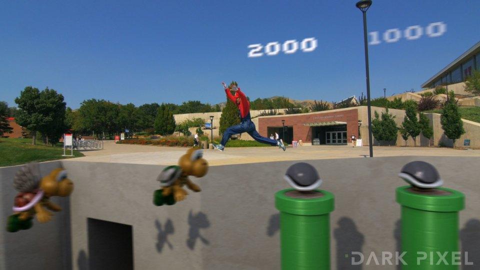 Mario And Luigi Parkour in Gorgeous 4K