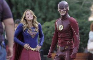 THE FLASH and SUPERGIRL Set Photos
