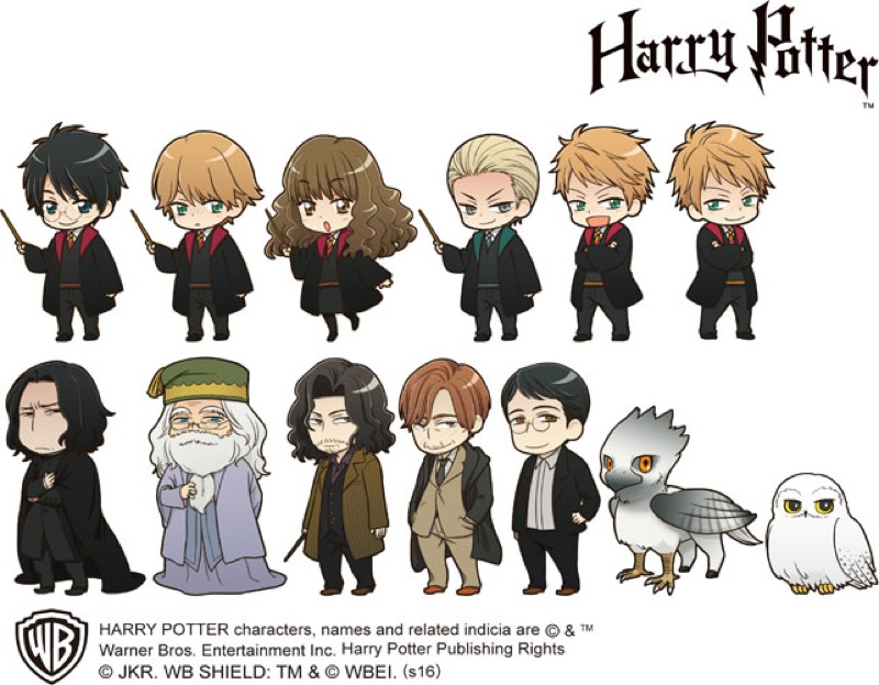 Anime Versions of Harry Potter Characters