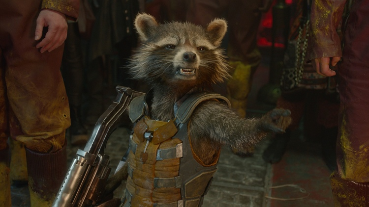 Rocket Raccoon On The Set of GUARDIANS OF THE GALAXY VOL. 2
