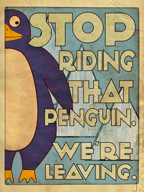 Four Illustrated Posters Based on the Crazy Things DAD Said to His Kids