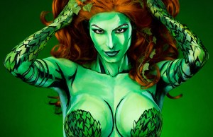 Poison Ivy Body Painted Costume