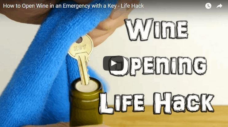 How to Open a Bottle of Wine With a Humble Key