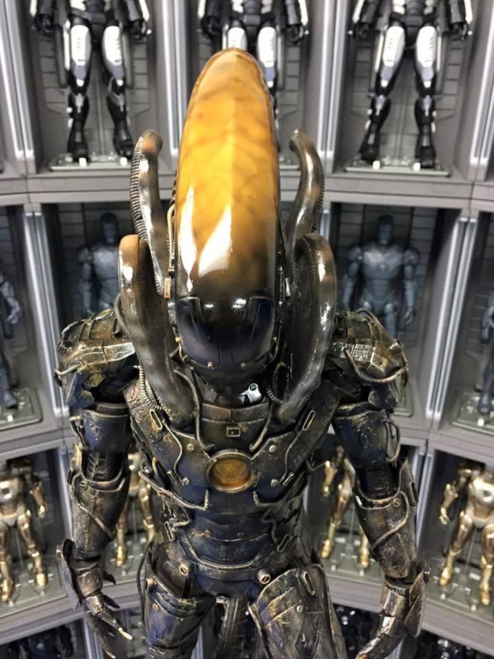 Iron Man Alien Xenomorph Action Figure Mashup