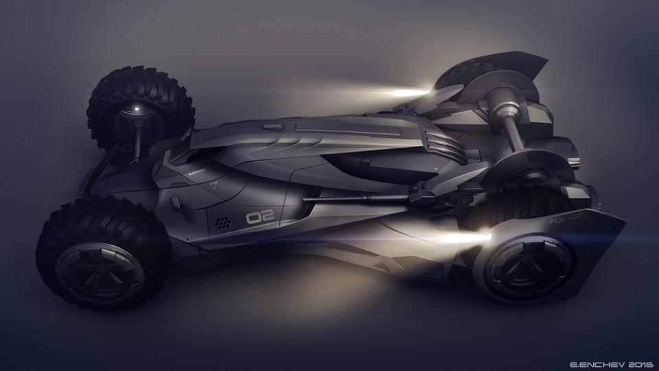 Futuristic Batmobile Concept Design